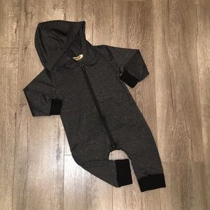 Other - Black Hooded Jumpsuit